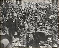 (Portrait of Hughes being carried by soldiers along a crowded street, 1918) (23533129873).jpg