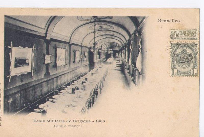 file 201 cole militaire de belgique salle 224 manger 1900 jpg wikimedia commons