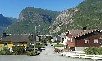 Øvre Årdal - View of Blåberg from Øvre Årdal