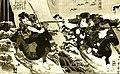 Артисты кабуки изображают бой самураев.jpg