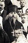 Дамаскин (Малюта) во время визита Президента Польши Игнация Мосницкого в Почаевскую Лавру в 1927 году.jpg