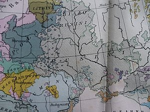 "Ruthenians - 1927 Polish map that indicates Ukrainians as ""Ruthenians"", and Belarusians as ""White Ruthenians""."
