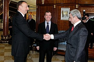 Serzh Sargsyan - Serzh Sargsyan and Azerbaijan's Ilham Aliyev, 23 January 2012