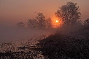 Туманний ранок на озері Глушець.jpg