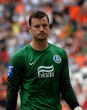 Jan Laštůvka - Laštůvka playing for Dnipro in 2011