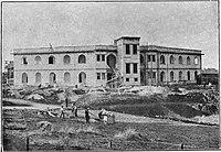 בית הספר תל-נורדאו בבנייה. צילום מתוך חוברת קרן היסוד משנת 1926.jpg