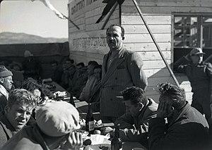 Levi Eshkol - Eshkol at kibbutz Yas'ur in 1949