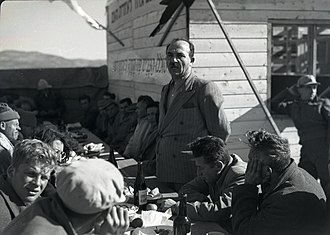 Levi Eshkol - Eshkol at kibbutz Yas'ur in 1949