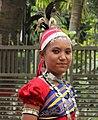বাংলাদেশের 'গারো' নামক উপজাতি গোষ্ঠীর একটি কিশোরী মেয়ের চেহারা এবং পোশাক.JPG
