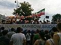 """We demand rainbow bridges"" truck slogan at Europride 2019.jpg"