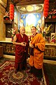 大寶法王噶瑪巴與大會主席 堪祖蔣康仁波切 - HH 17th Karmapa and the Chairman, Khentrul Gyang Khang Rinpoche (12482846073).jpg