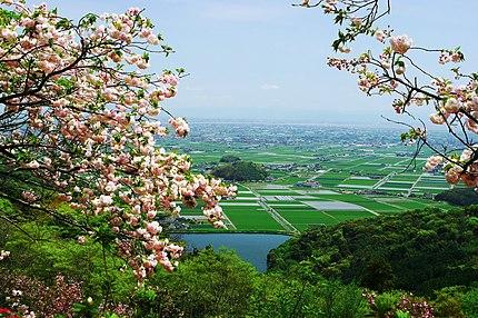 歌垣公園から望む白石平野