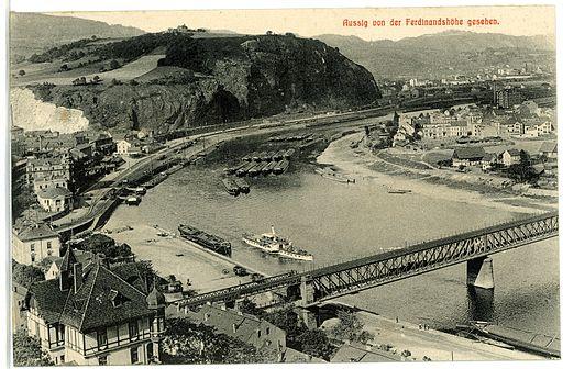 02744-Aussig-Elbe-1902-Von Ferdinandshöhe gesehen-Brück & Sohn Kunstverlag