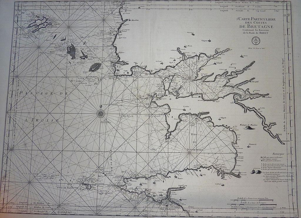 036 Carte particulière des côtes de Bretagne 1693 Neptune français.JPG