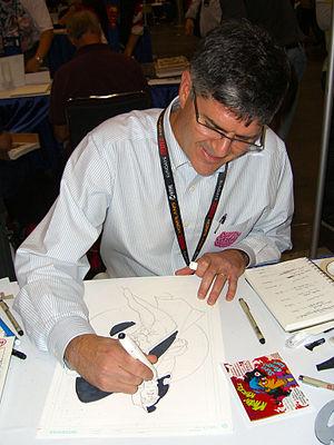 Rick Leonardi - Leonardi sketching Cloak and Dagger at the 2011 New York Comic Con.