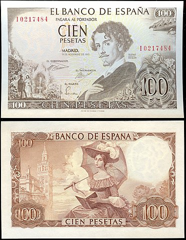 File 100 Pesetas Of Spain 1965 Jpg