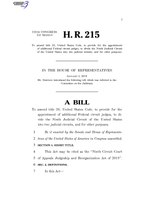 116th United States Congress H. R. 0000215 (1st session) - Ninth Circuit Court of Appeals Judgeship and Reorganization Act of 2019.pdf