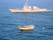 120105-N-ZZ999-003 - USS Kidd rescue Iranian fishing dhow from pirates