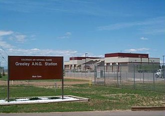 137th Space Warning Squadron - 233rd Space Group front gate, Greeley, Colorado