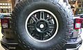 15 - ITALY - Jeep (Fiat) stand in Milan - spare automobile wheels wrangler rubicon 4x4 03.jpg