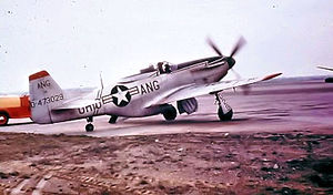55th Fighter Wing - Image: 166th Fighter Squadron North American F 51D 25 NA Mustang 44 73029