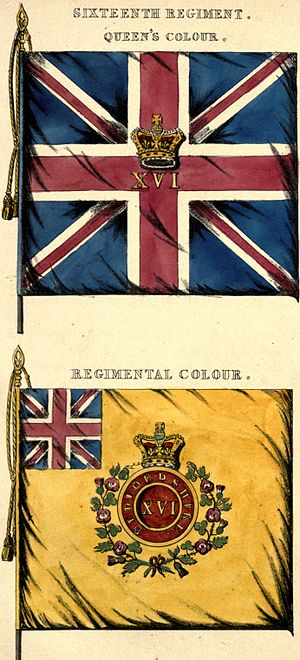 Bedfordshire and Hertfordshire Regiment - Regimental colours, 1848