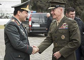 Najmaddin Sadigov - Sadigov with Marine Corps Gen. Joseph Dunford.