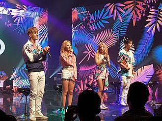 Kard (band) - Kard performing in their debut showcase in July 2017 From left to right: B.M, Somin, Jiwoo, J.Seph