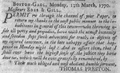 1770 ThomasPreston BostonGaol NewportMercury March19.png