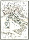 100px 1839 monin map of ancienne italy atlas universel de g%c3%a9ographie ancienne and moderne