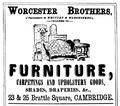 1878 WorcesterBros advert Cambridge Massachusetts.png