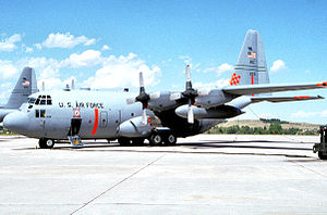 187th Airlift Squadron - 187th Airlift Squadron C-130H 92-1531 Modular Airborne Fire Fighting Systems (MAFFS) aerial fire fighting aircraft