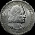 1893 Columbian half dollar, obverse
