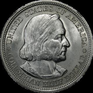 Columbian half dollar United States commemorative coin