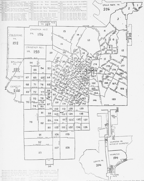 Los Angeles Map Png.File 1909 Los Angeles Precinct Map Png Wikipedia