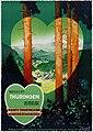 1937 circa Jupp Wiertz Plakat, Besucht Thüringen, das grüne Herz Deutschlands, Landesfremdenverkehrsverband, Weimar, Erasmusdruck, Berlin.jpg