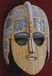 Colour illustration of the Sutton Hoo helmet