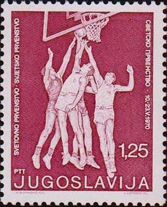 1970 FIBA World Championship - Image: 1970 FIBA World Championship stamp of Yugoslavia