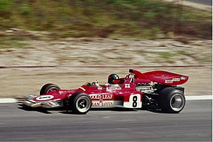 1971 German Grand Prix - Image: 1971 Emerson Fittipaldi, Lotus 72 (kl)