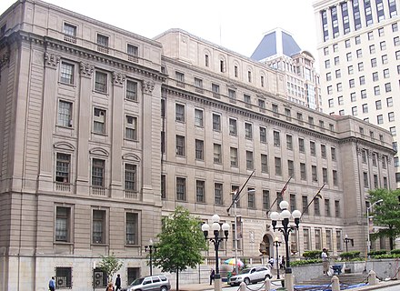 Courthouse east is a historic combined post office and Federal courthouse located in Battle Monument Square. 1Courthouse east.JPG