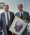 2001-01-18 Peter Kravchenko presents his artwork to the Consul.jpg