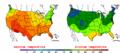 2004-06-06 Color Max-min Temperature Map NOAA.png