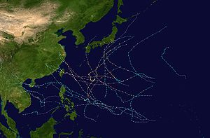2005 Pacific typhoon season - Image: 2005 Pacific typhoon season summary