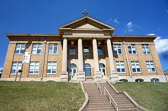 Chippewa Falls, Wisconsin - The original McDonell High School is now a public arts center.