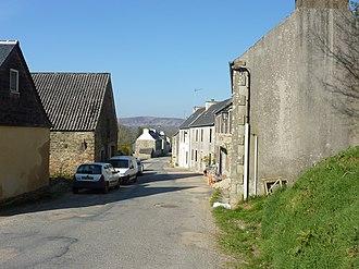 Botmeur - The main road in Botmeur, in 2010