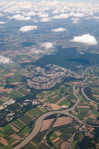 Waldkraiburg - Aerial view of Waldkraiburg