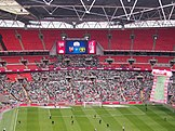 Yeovil Town fans at Wembley Stadium