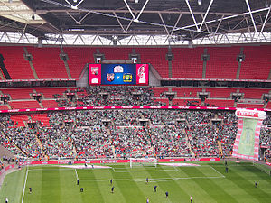 2013 Football League One play-off Final - Image: 2013 Football League One play off final Yeovil fans
