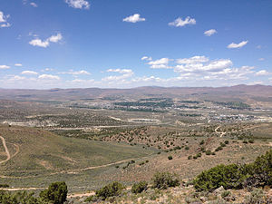 "Elko, Nevada - View of Elko from ""E"" Mountain"