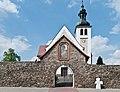 2014 Kamienica, kościół św. Jerzego, mur 10.JPG